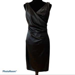 Le Chateau Sleeveless Side Ruched Cocktail Dress
